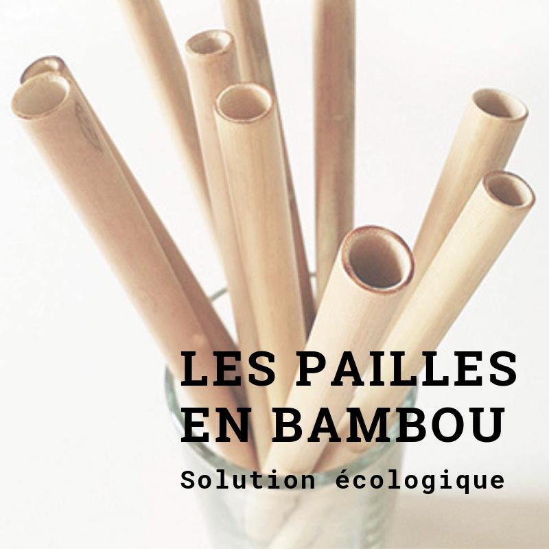 Les pailles en bambou écologiques