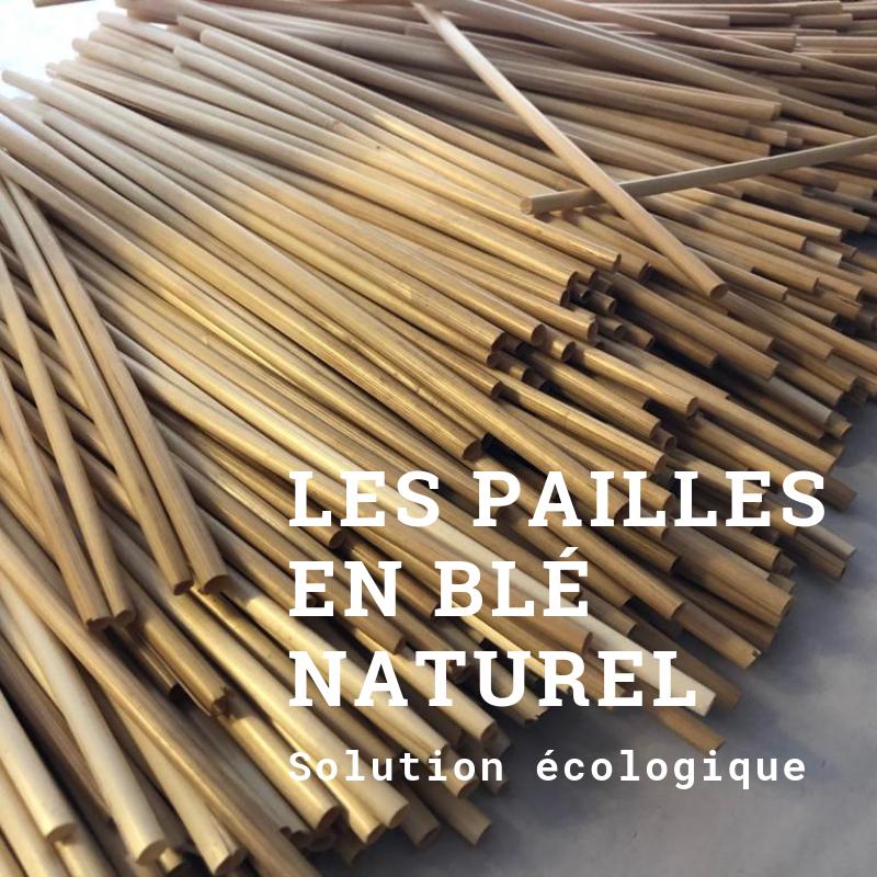 Les pailles en blé naturel écologique