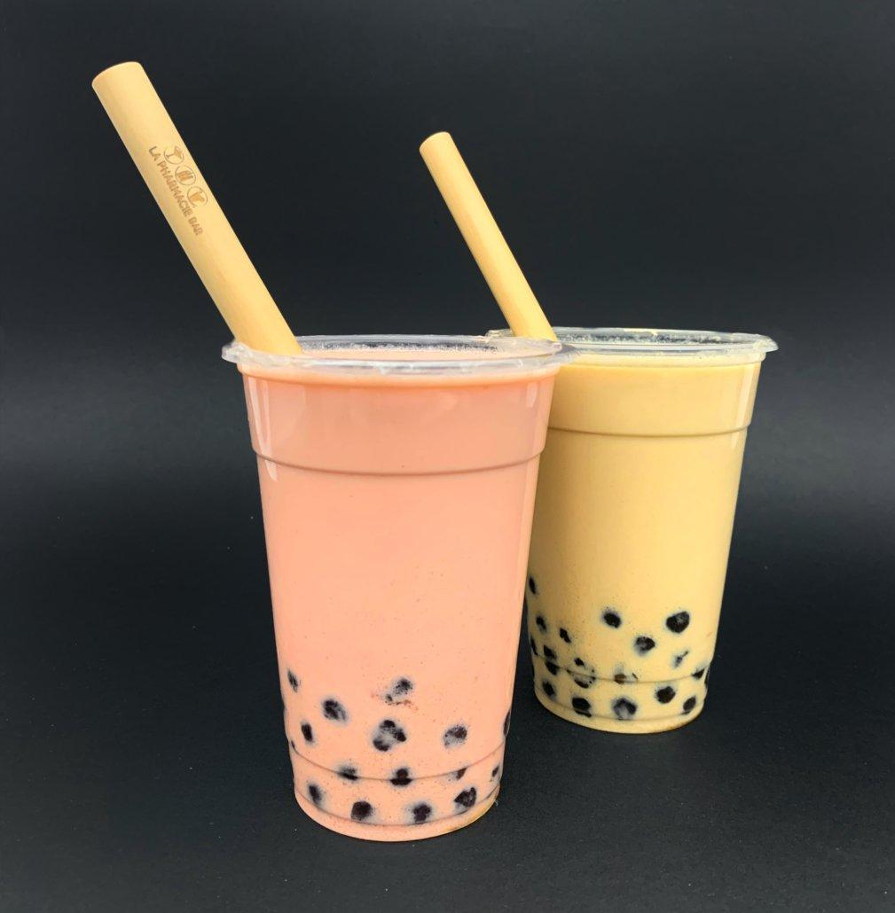 Paille réutilisable bambou bubble tea 12 mm