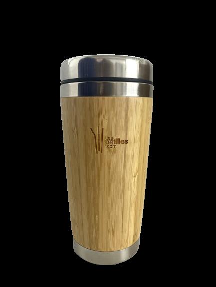 Gobelet Bambou réutilisable isotherme personnalisable