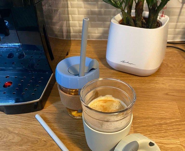 Gobelet en verre réutilisable et personnalisable