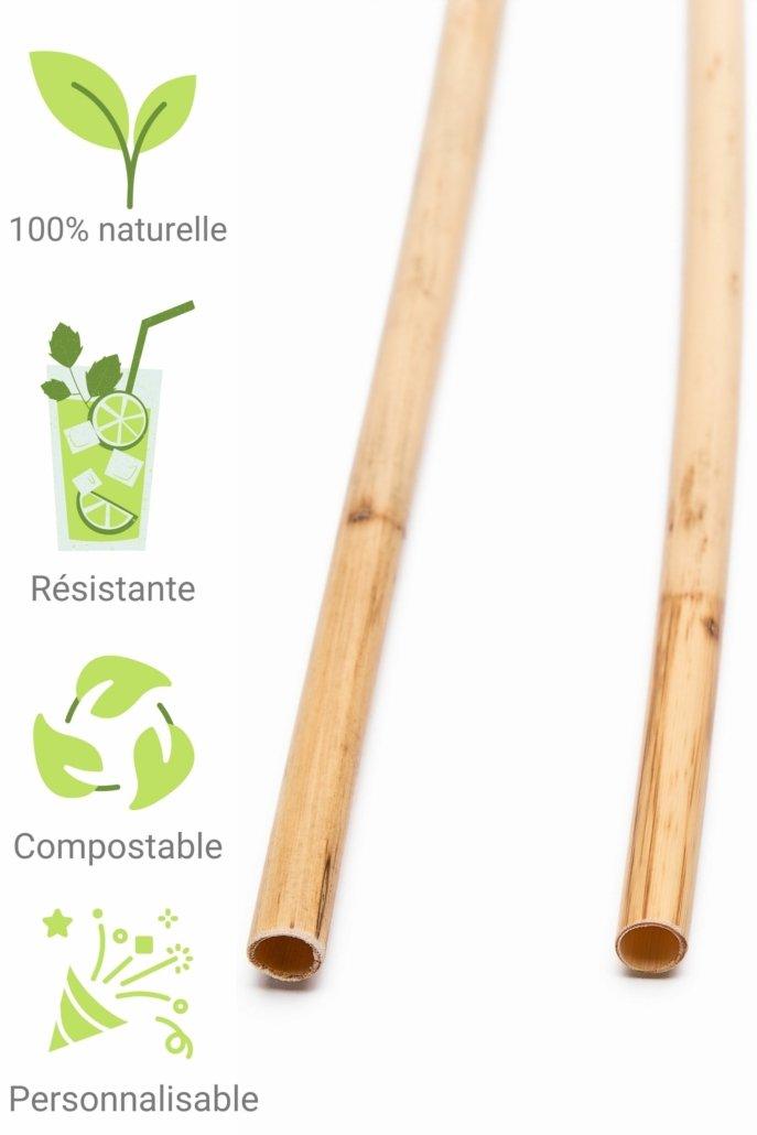 Paille roseau naturelle biodegradable